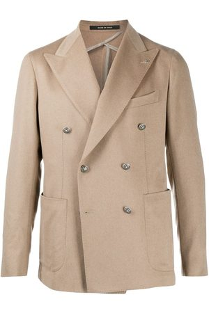 TAGLIATORE Peak lapel double-breasted blazer - Neutrals