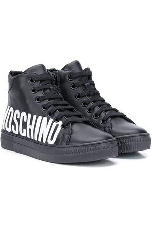 Moschino Logo-print high-top sneakers