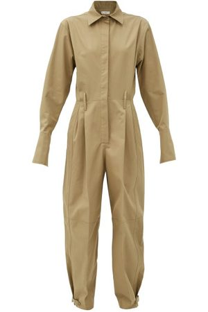 Givenchy Fluted-cuff Knife-pleated Cotton-poplin Jumpsuit - Womens