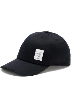 Thom Browne Logo-patch Cotton-twill Baseball Cap - Mens - Navy