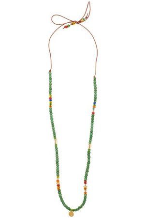 Musa by Bobbie Diamond, Citrine, Opal & 14kt Gold Charm Necklace - Womens