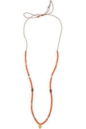 Musa by Bobbie Diamond, Chalcedony & 18kt Gold Charm Necklace - Womens