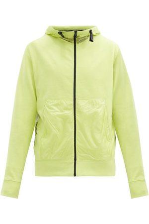 5 MONCLER CRAIG GREEN Zipped Cotton And Ripstop Hooded Sweatshirt - Mens