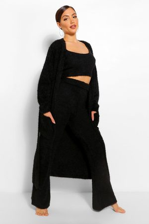 Boohoo Womens Premium Fluffy Lounge Wide Leg Trouser - - 2
