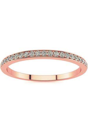 SuperJeweler Women Rings - 1/10 Carat Micropave Diamond Wedding Band in 14k