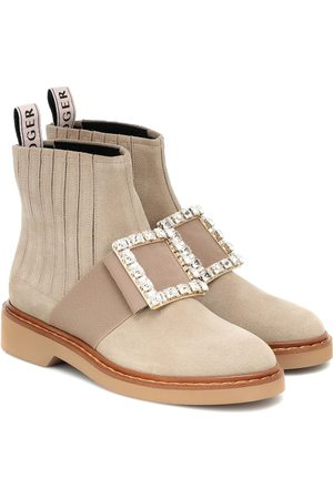 Roger Vivier Women Ankle Boots - Viv' Rangers suede ankle boots