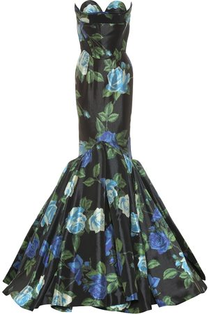 RICHARD QUINN Women Printed Dresses - Floral satin gown