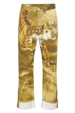 DRIES VAN NOTEN Tiger printed jeans