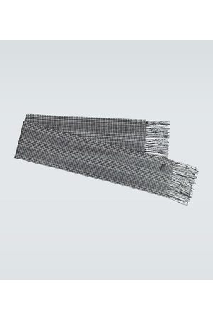 Saint Laurent Cashmere houndstooth scarf