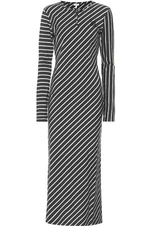 Loewe Striped stretch-cotton maxi dress