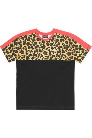 Marcelo Burlon Kids of Milan Leopard-print cotton jersey T-shirt
