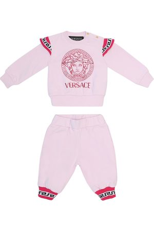 VERSACE Baby logo stretch-cotton tracksuit