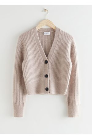 & OTHER STORIES Cropped Ribbed Alpaca Blend Cardigan