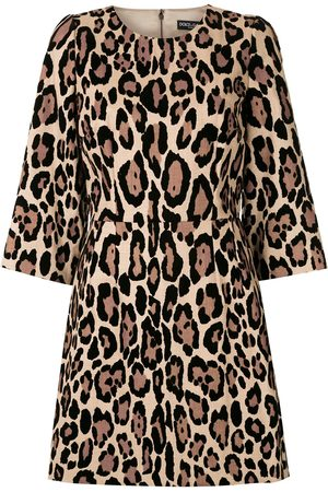 Dolce & Gabbana Leopard-print mini dress - Neutrals