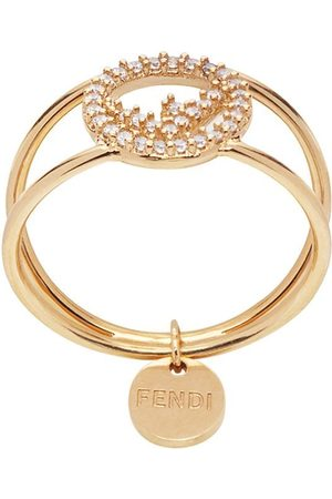 Fendi Women Rings - Crystal detail pendant ring