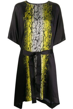 Rick Owens Acid print T-shirt midi dress