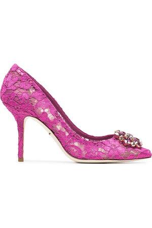 Dolce & Gabbana Belucci Taormina lace 90mm pumps