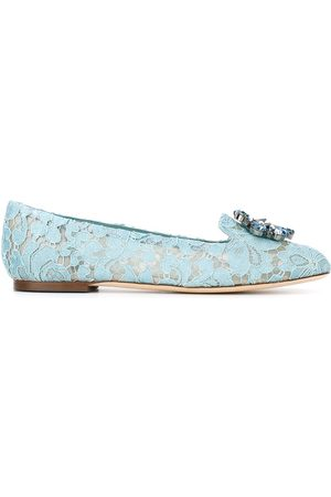 Dolce & Gabbana Women Ballerinas - Vally Taormina lace ballerina shoes