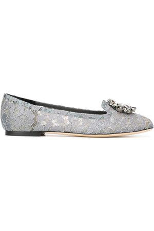 Dolce & Gabbana Vally Taormina lace ballerina shoes - Grey