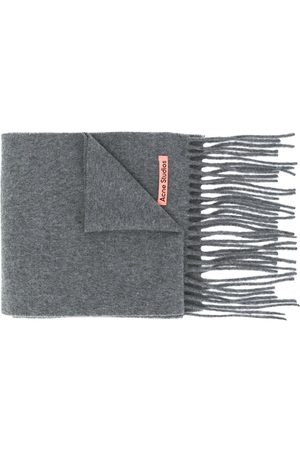 Acne Studios Scarves - Oversized wool scarf - Grey