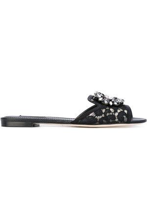 Dolce & Gabbana Bianca embellished flat sandals