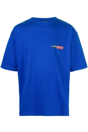Balenciaga Men T-shirts - Logo-print oversize T-shirt