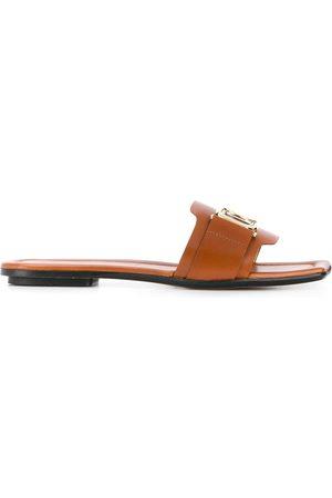 Lanvin Square toe leather sandals