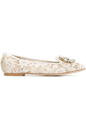 Dolce & Gabbana Vally Taormina lace ballerina shoes - Neutrals