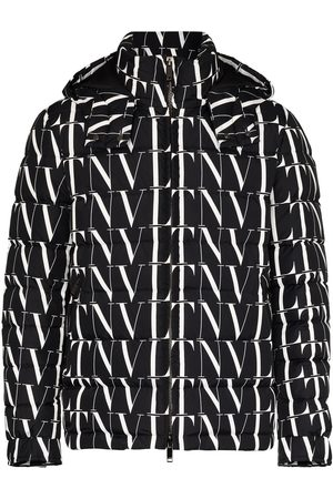 VALENTINO Hooded logo-print down jacket