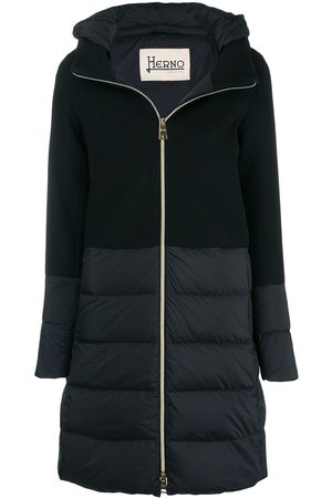 HERNO Hooded zipped coat
