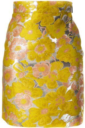 Msgm Floral jacquard mini skirt