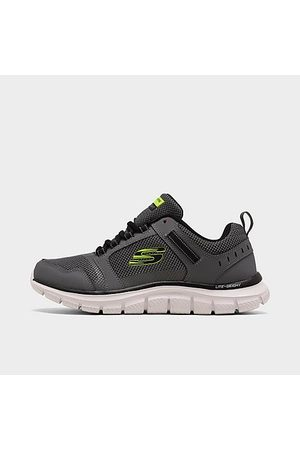 Skechers Men's Track - Knockhill Training Shoes in Grey/Charcoal Size 10.5 Leather