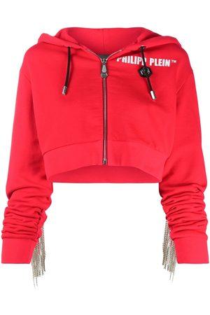 Philipp Plein Crystal-fringe hoodie