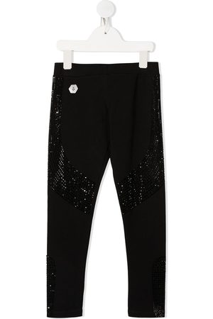 Philipp Plein Embellished fitted leggings