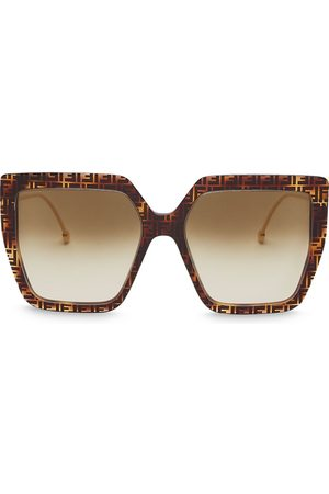 Fendi FF-frame oversized square sunglasses
