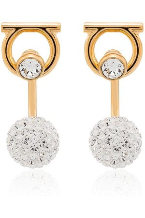 Salvatore Ferragamo Gancini crystal-embellished earrings