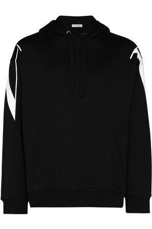 VALENTINO Rear logo-print hoodie