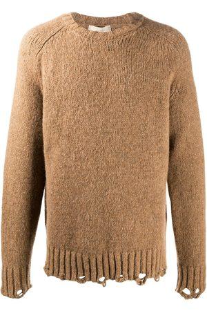 MAISON FLÂNEUR Distressed knit jumper - Neutrals