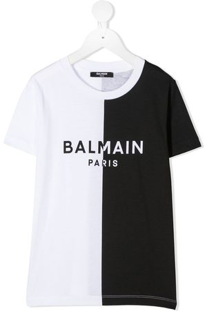 Balmain Two-tone cotton T-shirt