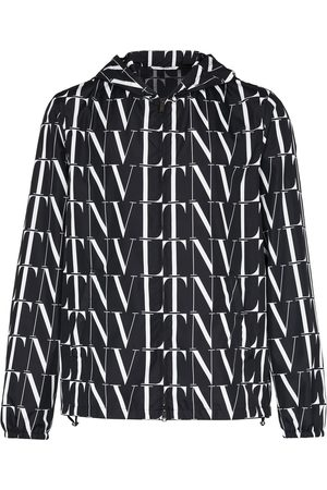 VALENTINO VLTN logo hooded jacket
