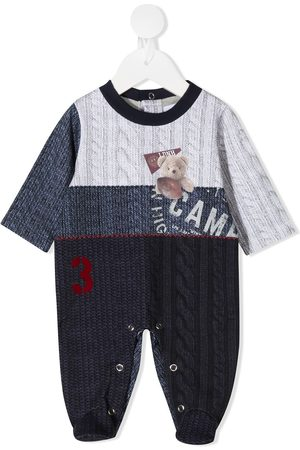 Lapin House Bodysuits & All-In-Ones - Cable-knit print babygrow - Grey