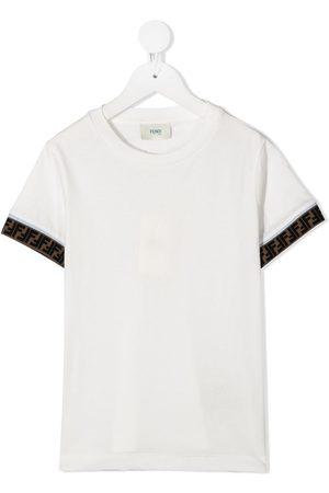 Fendi FF-logo cuff T-shirt