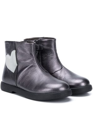 Camper Kids Heart-patch ankle boots - Grey