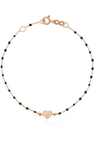 GIGI CLOZEAU 18kt rose Heart charm bracelet - R20 ROSE