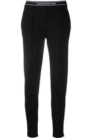 Calvin Klein Waistband logo tapered trousers