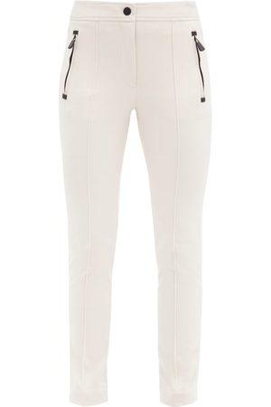 Moncler Sportivo Slim-fit Twill Ski Trousers - Womens - Light
