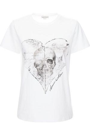 Alexander McQueen Skull Print Cotton Jersey T-shirt