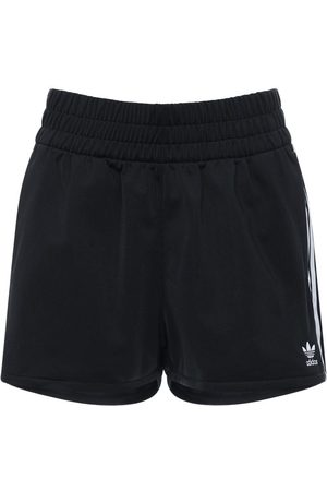 adidas 3 Stripes Cotton Sweat Shorts