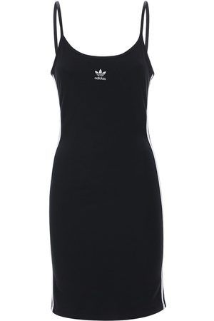 adidas Women Dresses - Logo Stretch Cotton Dress
