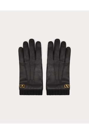 VALENTINO GARAVANI Men Gloves - Vlogo Signature Leather Gloves Man 100% Lambskin 10